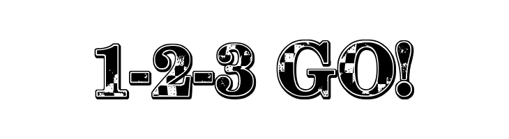 1-2-3 GO! Free Fonts Download