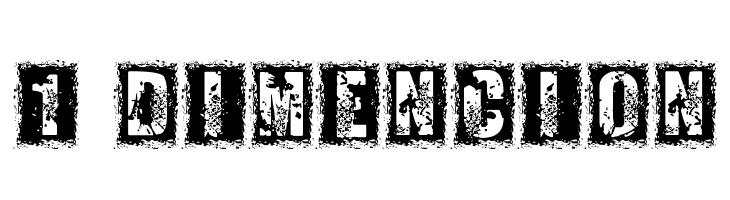 1 DIMENCION  Free Fonts Download
