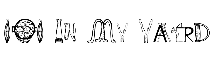 101 In My Yard  Free Fonts Download