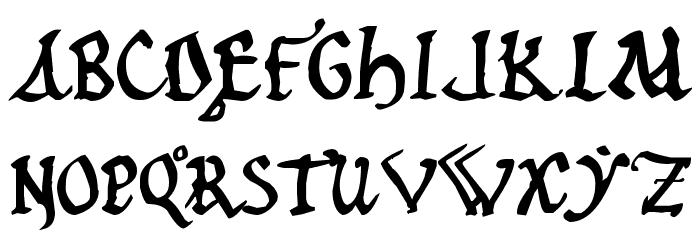 12th c. Abbey फ़ॉन्ट अपरकेस