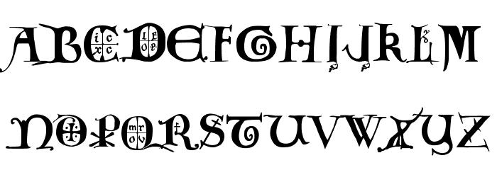 12th century caps फ़ॉन्ट अपरकेस