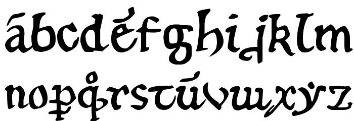 12th century caps फ़ॉन्ट लोअरकेस