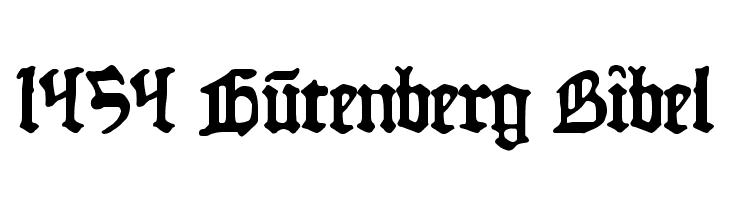 1454 Gutenberg Bibel फ़ॉन्ट