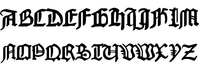 1454 Gutenberg Bibel फ़ॉन्ट अपरकेस
