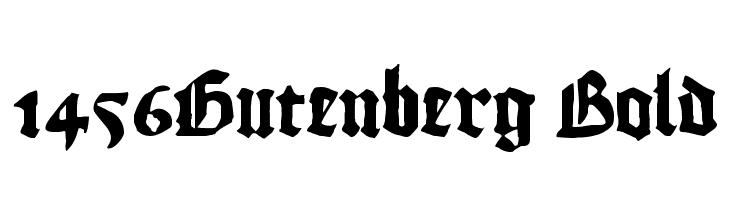 1456Gutenberg Bold  नि: शुल्क फ़ॉन्ट्स डाउनलोड