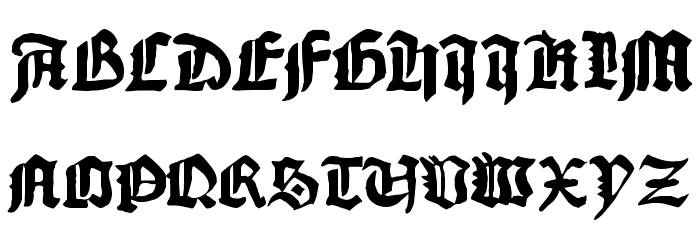 1456Gutenberg Bold फ़ॉन्ट अपरकेस