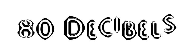 80 Decibels  Free Fonts Download