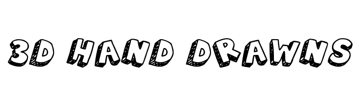 3D Hand Drawns  Free Fonts Download