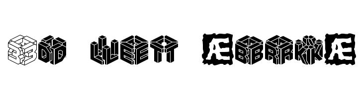 3D LET [BRK]  Free Fonts Download