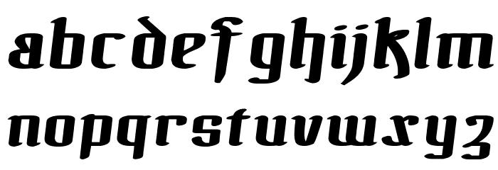!The Black Bloc Bold Italic फ़ॉन्ट लोअरकेस
