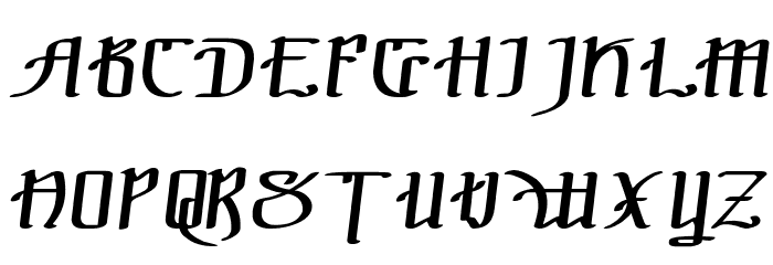 !The Black Bloc Italic फ़ॉन्ट अपरकेस