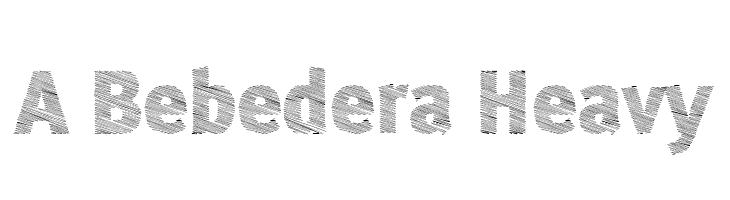 A Bebedera Heavy  les polices de caractères gratuit télécharger