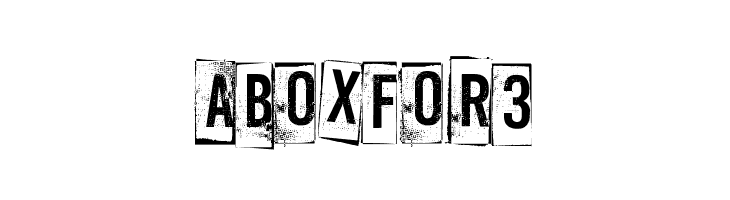A Box For 3  les polices de caractères gratuit télécharger
