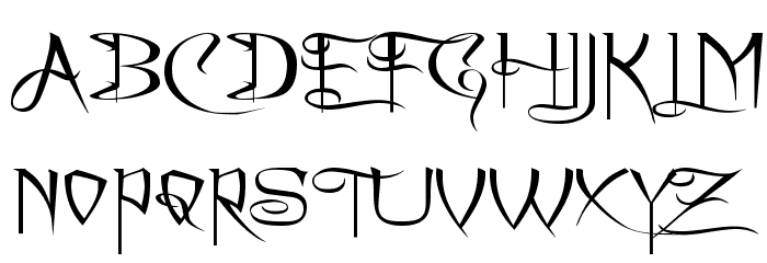 A Charming Font Expanded फ़ॉन्ट अपरकेस