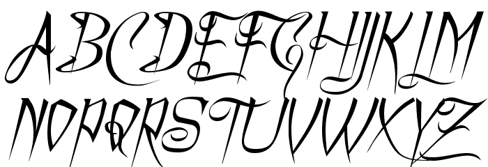 A Charming Font Italic फ़ॉन्ट अपरकेस