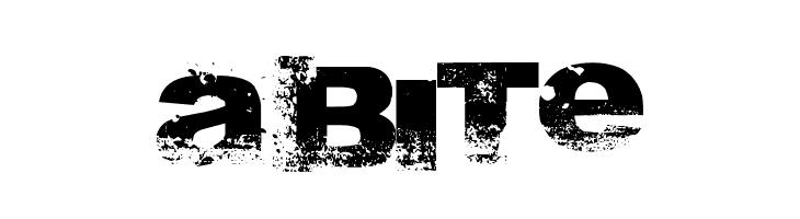 A bite  les polices de caractères gratuit télécharger