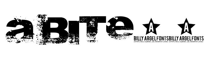 A bite__  les polices de caractères gratuit télécharger