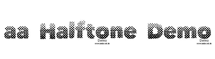 aa Halftone Demo  les polices de caractères gratuit télécharger