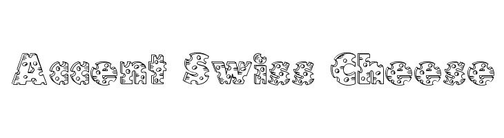 Accent Swiss Cheese  Free Fonts Download
