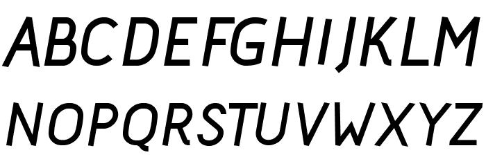 Acid Bold Italic फ़ॉन्ट अपरकेस