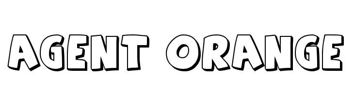 Agent Orange  नि: शुल्क फ़ॉन्ट्स डाउनलोड