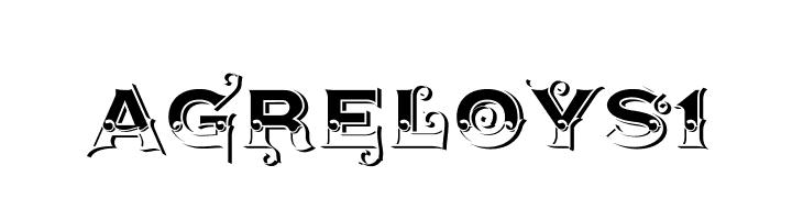 AgreloyS1  免费字体下载
