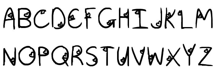 aishiteru Font UPPERCASE