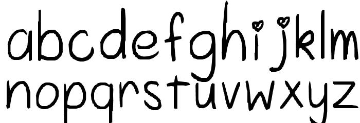 aishiteru Font LOWERCASE