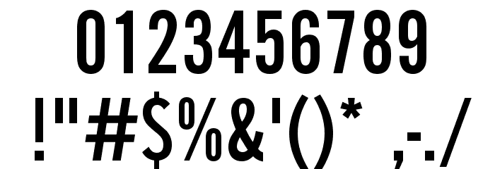 AlternateGothicEF-NoTwo Font OTHER CHARS