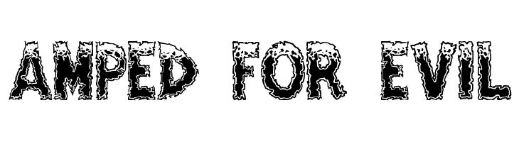 Amped For Evil  免费字体下载