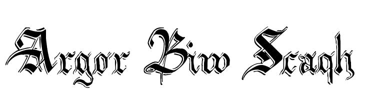 Argor Biw Scaqh  नि: शुल्क फ़ॉन्ट्स डाउनलोड