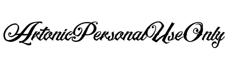 ArtonicPersonalUseOnly  les polices de caractères gratuit télécharger