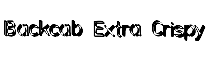 Backcab Extra Crispy Free Fonts Download