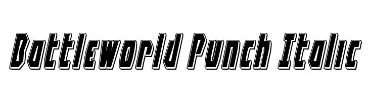 Battleworld Punch Italic  les polices de caractères gratuit télécharger