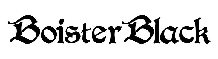 BoisterBlack  フリーフォントのダウンロード