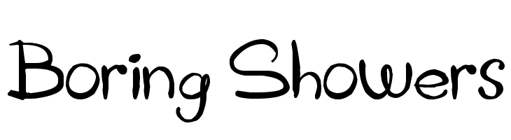 Boring Showers Free Fonts Download