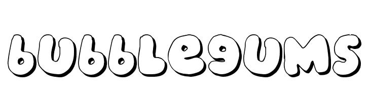 bubblegums  नि: शुल्क फ़ॉन्ट्स डाउनलोड