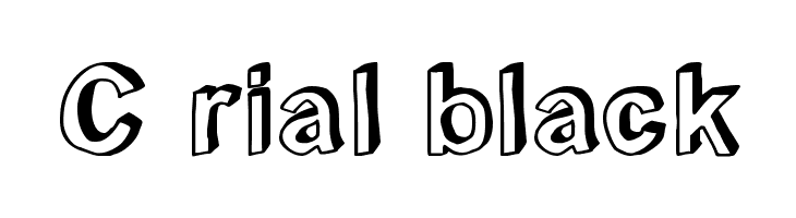 C rial black  免费字体下载