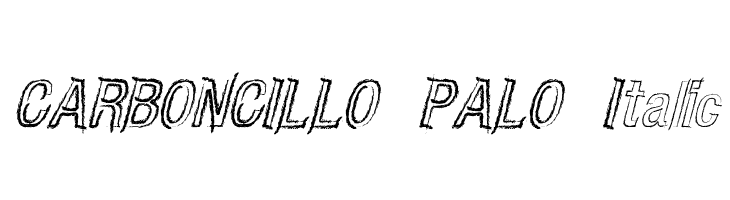 CARBONCILLO PALO Italic Free Fonts Download