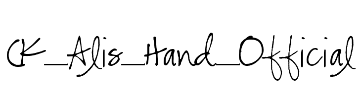 CK_Alis_Hand_Official  Free Fonts Download