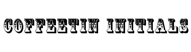 CoffeeTin Initials  नि: शुल्क फ़ॉन्ट्स डाउनलोड