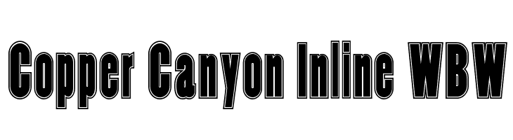 Copper Canyon Inline WBW  Free Fonts Download