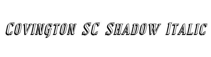 Covington SC Shadow Italic  Free Fonts Download