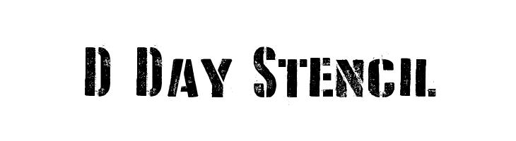 D Day Stencil  フリーフォントのダウンロード
