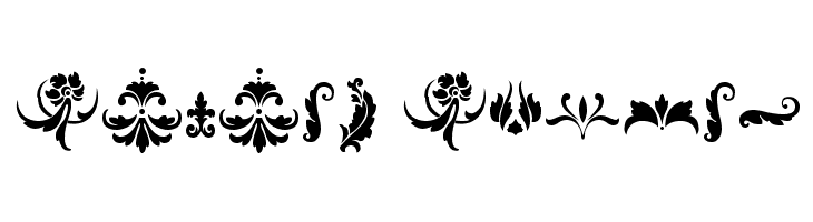 Damask Dings1  Free Fonts Download
