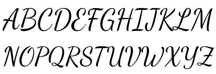 Dancing Script Font UPPERCASE