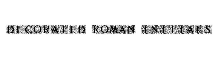 Decorated Roman Initials  Free Fonts Download