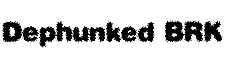 Dephunked BRK Free Fonts Download