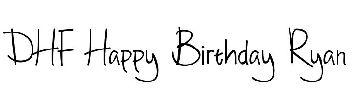 Happy Birthday Schriftart ~ Dhf quinta s diary font