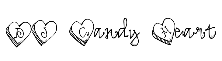 DJ Candy Heart Free Fonts Download